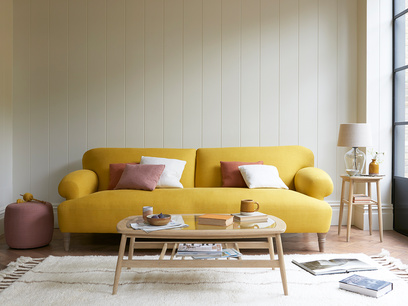 Easy-Peasy upholstered comfy sofa