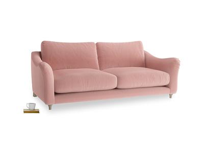 Large Bumpster Sofa in Vintage Pink Clever Velvet