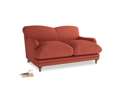 Small Pudding Sofa in Burnt Sienna Brushed Cotton