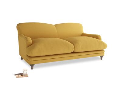 Medium Pudding Sofa in Burnt Ochre Vintage Linen