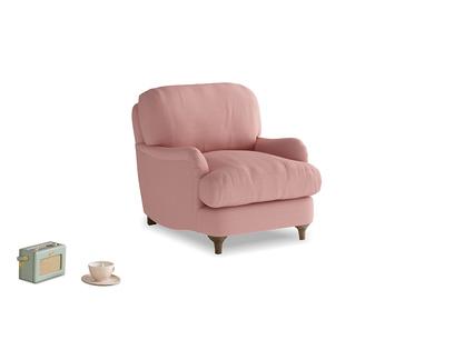 Jonesy Armchair in Dusty Pink Vintage Linen