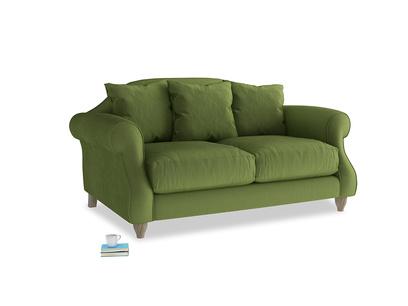 Small Sloucher Sofa in Olive Vintage Velvet