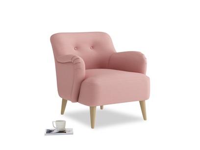 Diggidy Armchair in Dusty Pink Vintage Linen