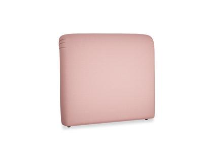 Double Cookie Headboard in Dusty Pink Vintage Linen