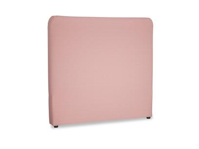 Double Ruffle Headboard in Dusty Pink Vintage Linen