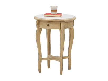 Bella curved leg side table in Marble
