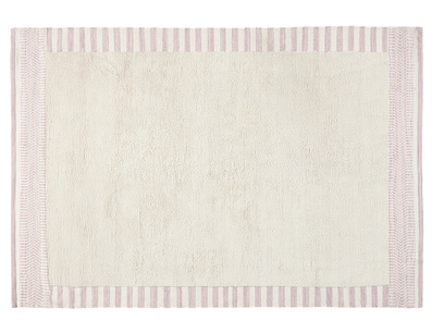 Loom handwoven rug in Dusty Pink