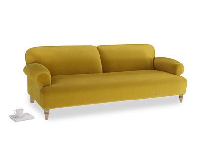 Large Easy-Peasy Sofa in Burnt yellow vintage velvet