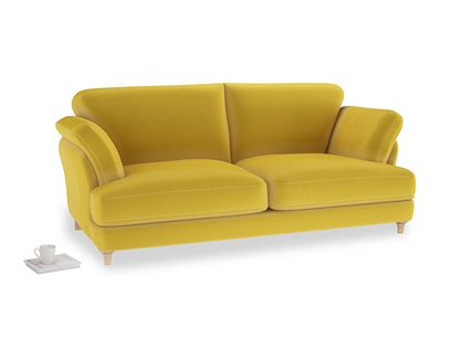 Large Smithy Sofa in Bumblebee clever velvet