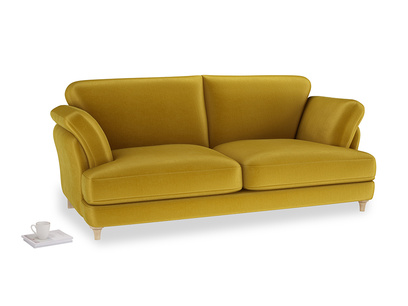 Large Smithy Sofa in Burnt yellow vintage velvet