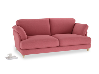 Large Smithy Sofa in Raspberry brushed cotton