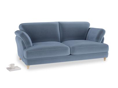 Large Smithy Sofa in Winter Sky clever velvet