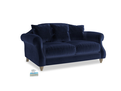 Small Sloucher Sofa in Midnight Clever Deep Velvet