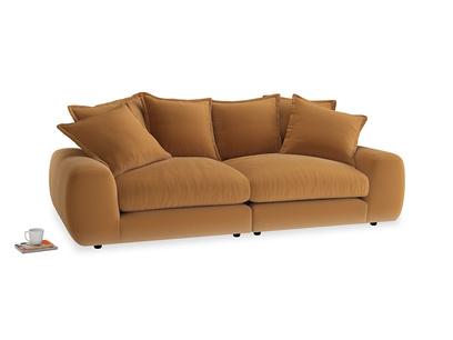 Medium Wodge Modular Sofa in Caramel Clever Deep Velvet