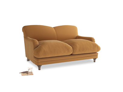 Small Pudding Sofa in Caramel Clever Deep Velvet