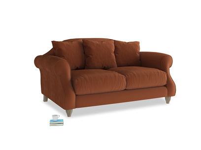 Small Sloucher Sofa in Praline Clever Deep Velvet