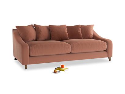 Large Oscar Sofa in Pinky Peanut Clever Deep Velvet