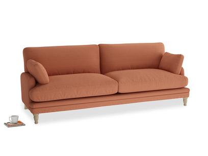 Large Squisharoo Sofa in Burnt Umber Vintage Linen