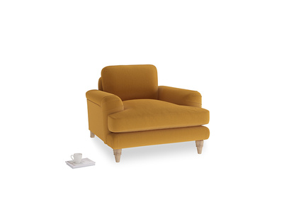 Cinema Armchair in Burnished Yellow Clever Velvet