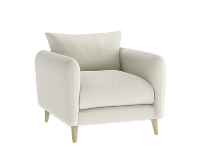 Oat Brushed Cotton Squishmeister Armchair