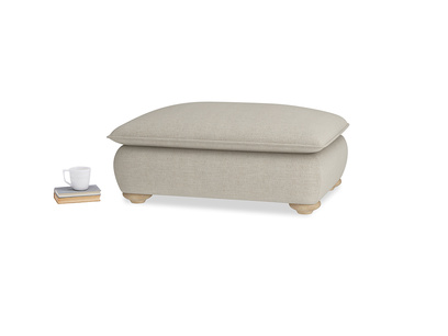 Rectangle Munch Footstool in Thatch house fabric