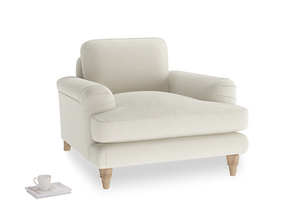 Oat Brushed Cotton Cinema Armchair
