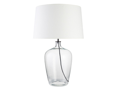 Large Flagon Table Lamp with Natural Hessian shade