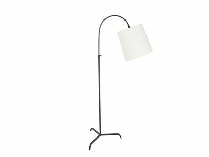 Slam Dunk floor lamp with plain shade