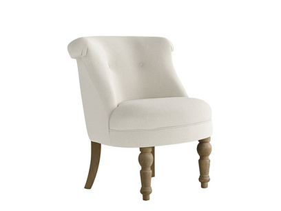 Oat Brushed Cotton Bovary Chair