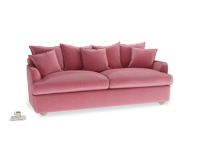 Large Smooch Sofa Bed in Blushed pink vintage velvet