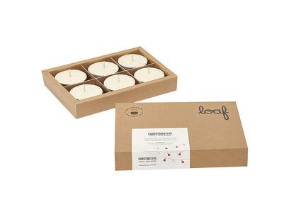 Christmas Eve smelly wax drops tea lights box open