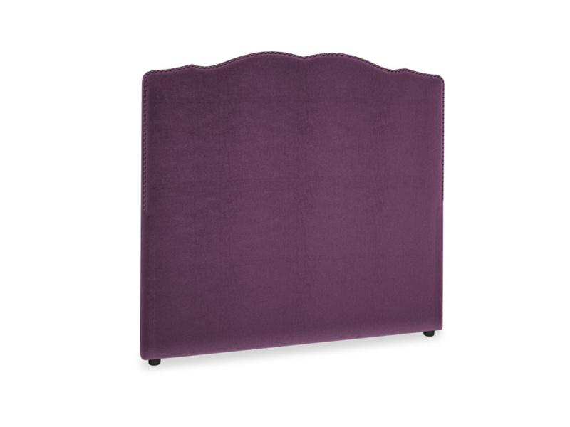 Double Marie Headboard in Grape clever velvet