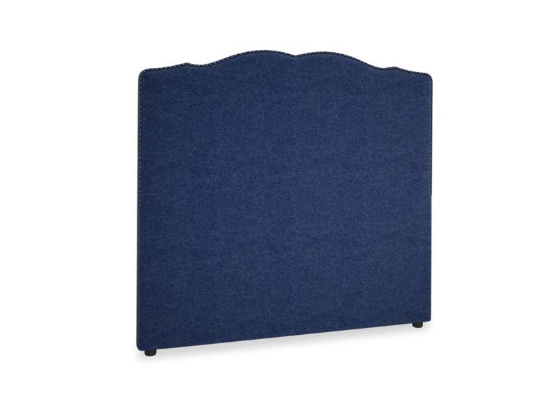 Double Marie Headboard in Ink Blue wool