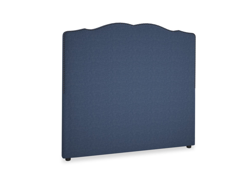 Double Marie Headboard in Navy blue brushed cotton
