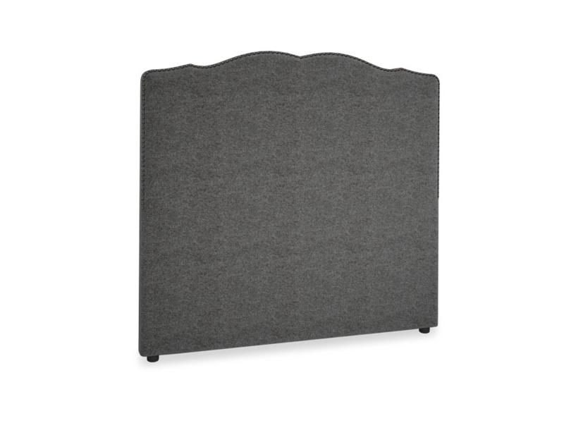 Double Marie Headboard in Shadow Grey wool