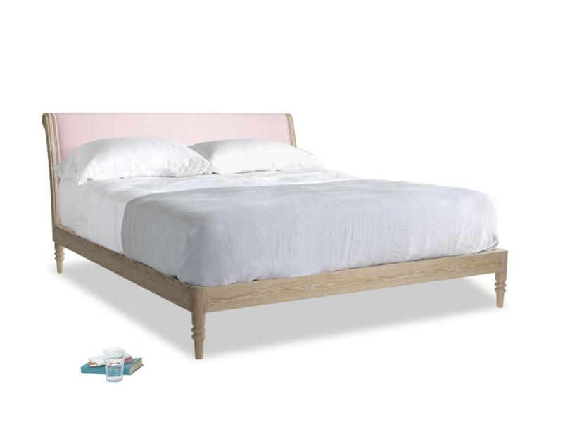 Superking Darcy Bed in Pale Rose vintage linen