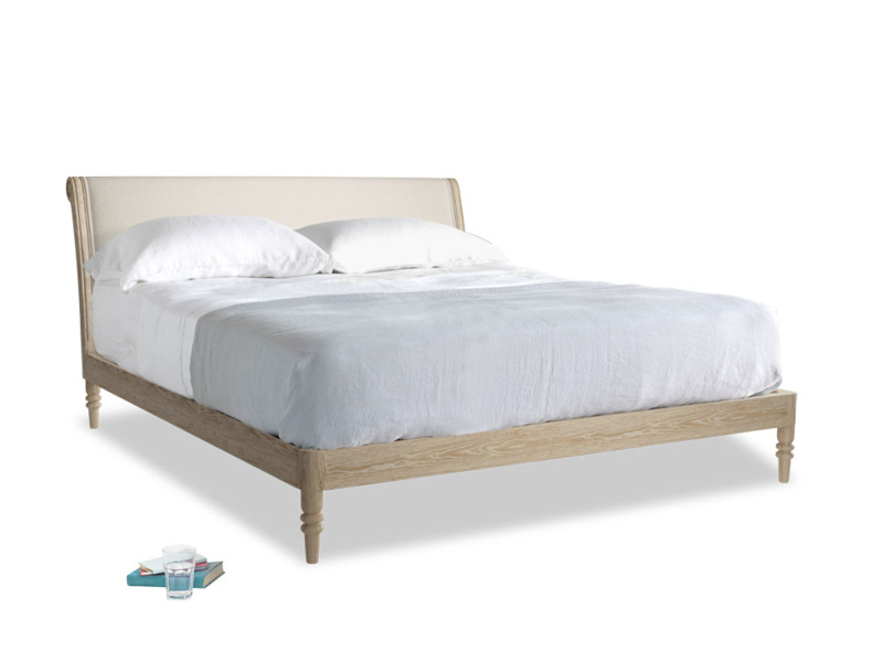 Superking Darcy Bed in Buff brushed cotton