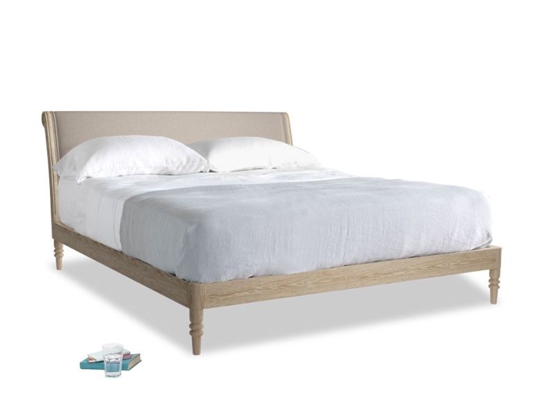 Superking Darcy Bed in Driftwood brushed cotton