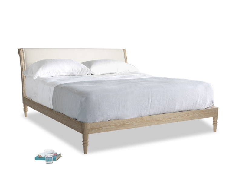Superking Darcy Bed in Oat brushed cotton