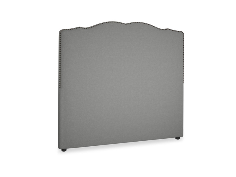 Double Marie Headboard in French Grey brushed cotton
