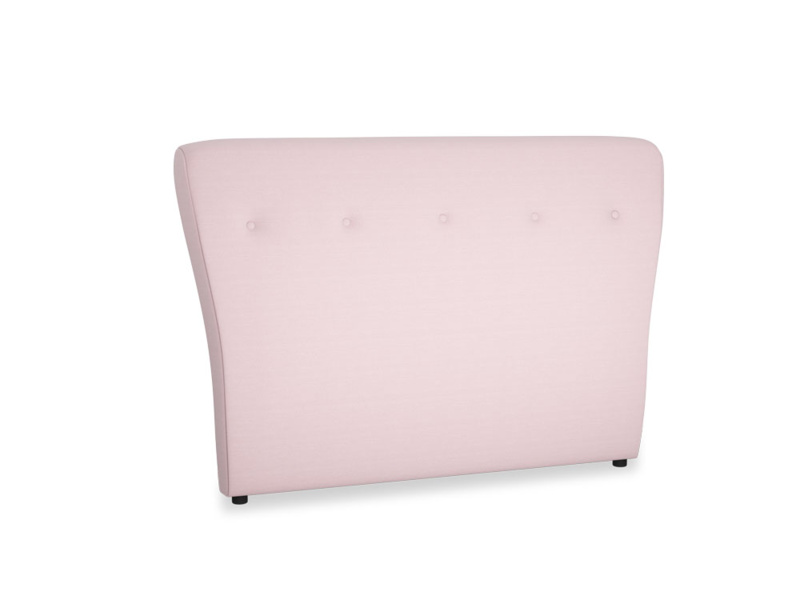 Double Smoke Headboard in Pale Rose vintage linen