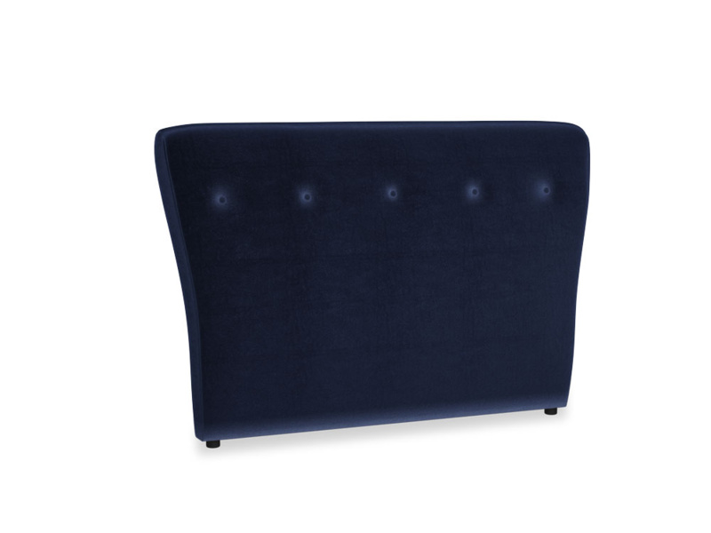 Double Smoke Headboard in Midnight plush velvet