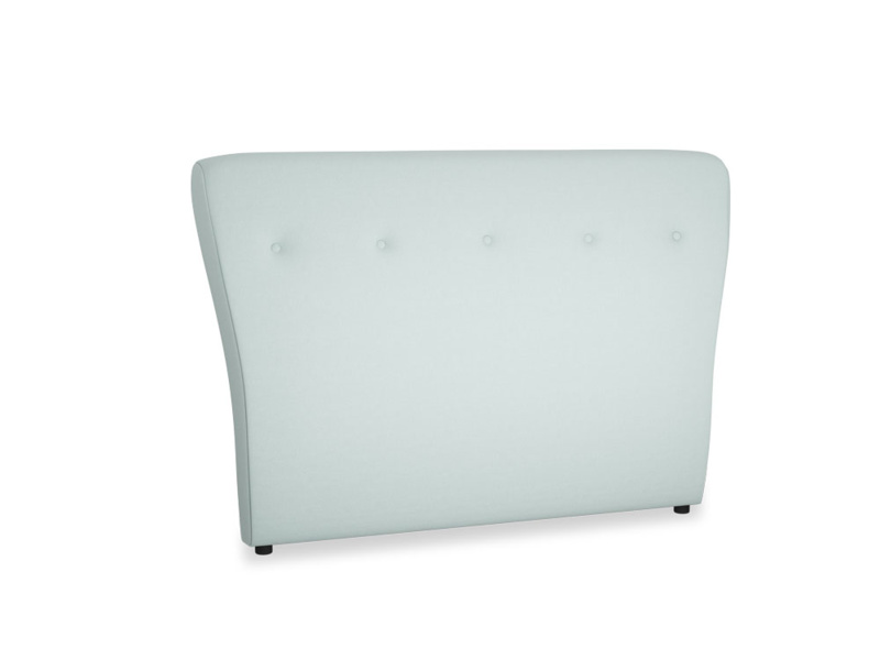 Double Smoke Headboard in Gull's Egg Brushed Cotton