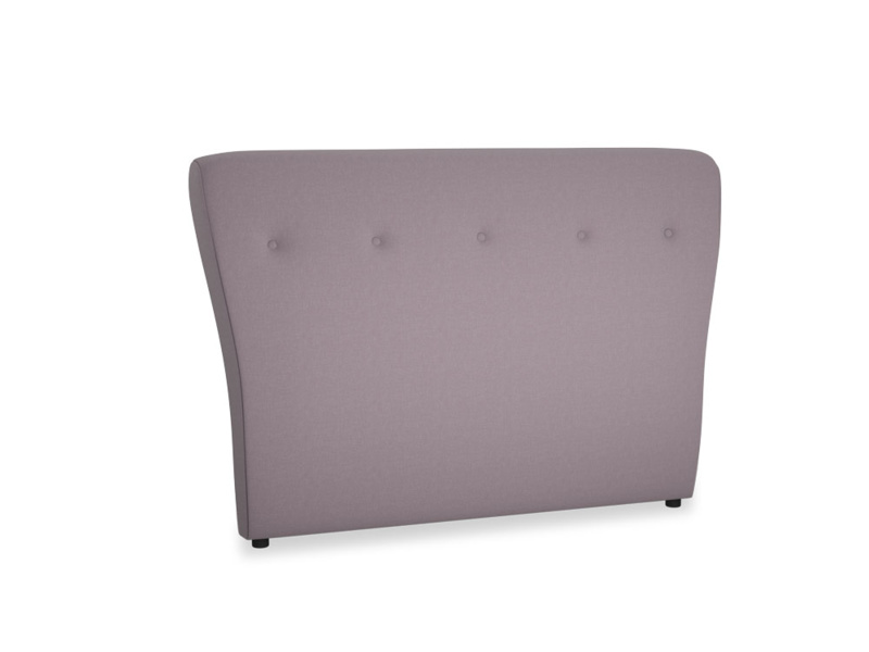 Double Smoke Headboard in Lavender brushed cotton