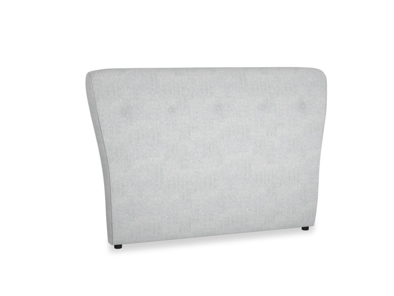 Double Smoke Headboard in Pebble vintage linen