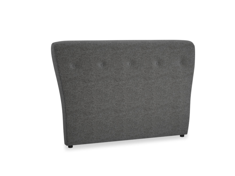 Double Smoke Headboard in Shadow Grey wool