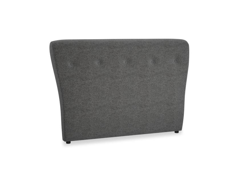 Double Smoke Headboard in Shadow Grey wool
