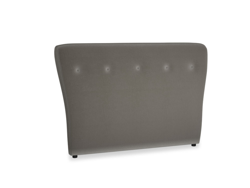 Double Smoke Headboard in Slate clever velvet