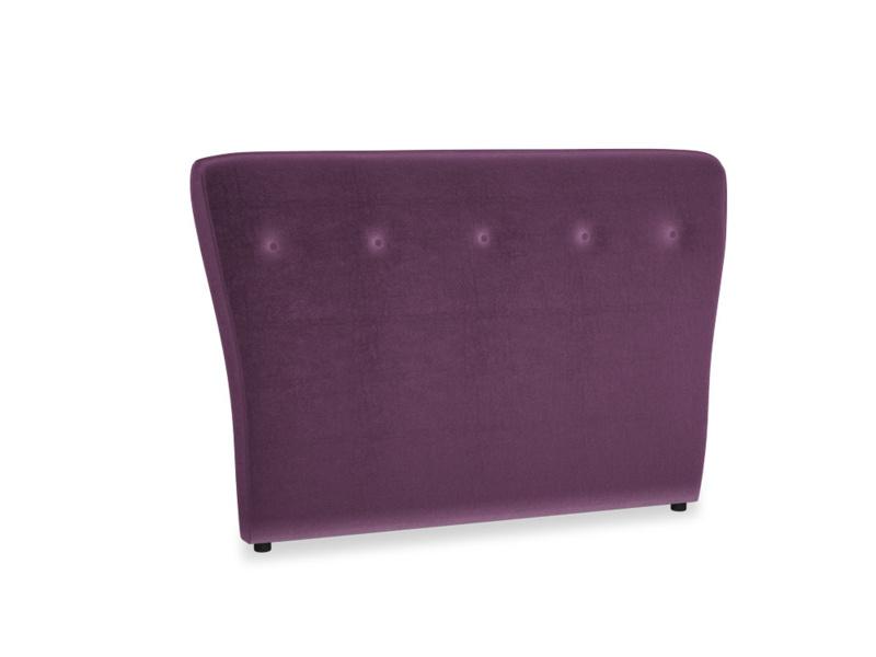 Double Smoke Headboard in Grape clever velvet