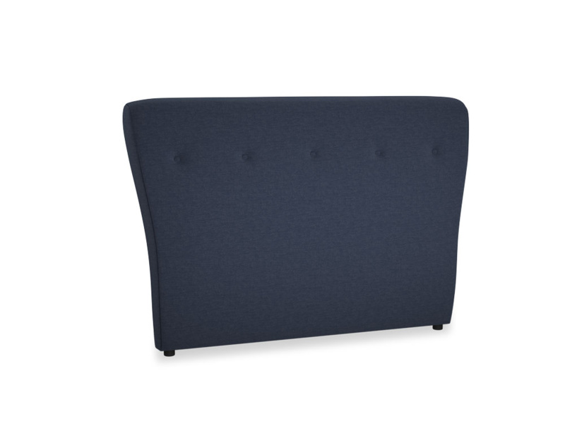 Double Smoke Headboard in Indigo vintage linen